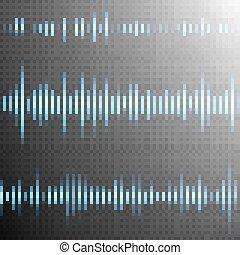 Sound wave on Transparent background. EPS 10