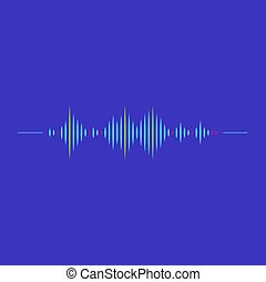 Sound wave rhythm symbol with minimalistic style. Vector illustration.