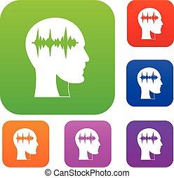 Sound wave set color collection