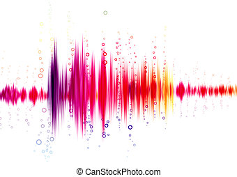 sound wave on a white background