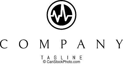 Sound wave vector logo image - The logo has an abstract...