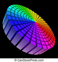 Sound waveform - Colorful Graphic Equalizer. Circle in...