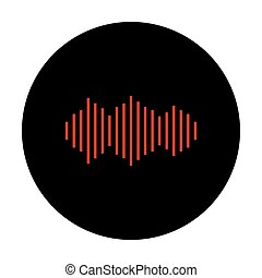 Sound waves icon