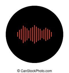 Sound waves icon