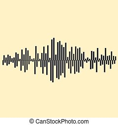 Sound waves illustartion. Music background EPS 10 vector...
