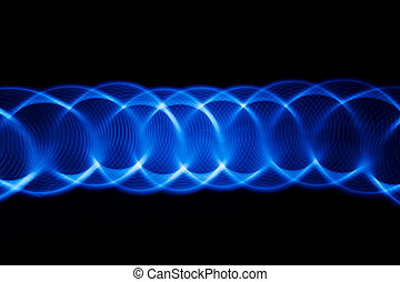 Sound waves in the dark - Sound waves in the visible blue ...