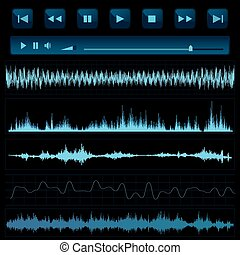 Sound waves. Music background.