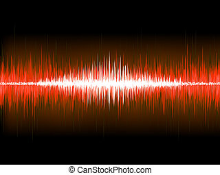 Sound waves on black background. EPS 10 vector file included