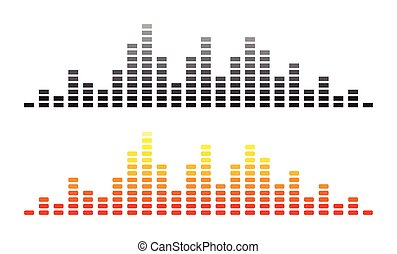 Sound Waves on white background. Vector illustration.