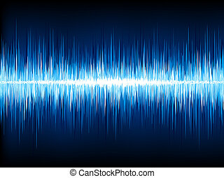 Sound waves oscillating on black. EPS 10 - Sound waves...