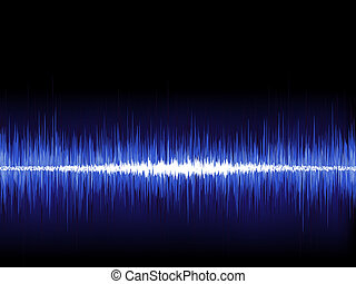 Sound waves oscillating on black. EPS 8