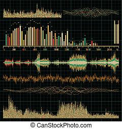 Sound waves set. Music background. EPS 8 vector file ...