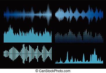 Sound waves set
