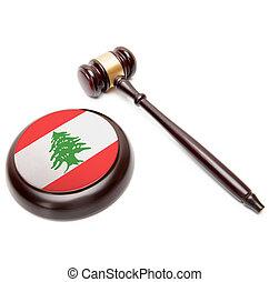 soundboard, líbano, nacional, -, aquilo, juiz, bandeira,...