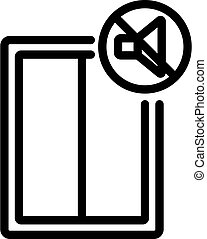 soundproof window icon vector outline illustration