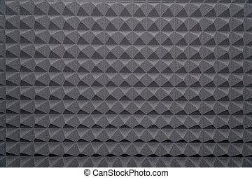 soundproofing, convexo, triángulos, caucho, textura, espuma