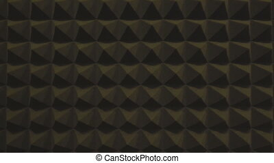Soundproofing foam rubber texture with convex triangles in ...