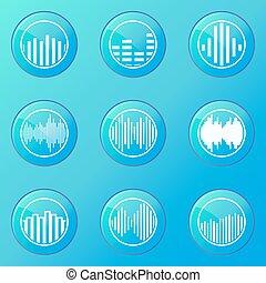 Soundwave blue icons