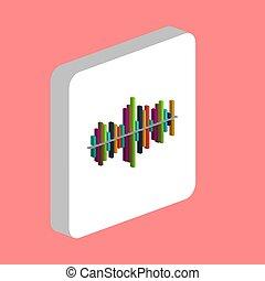 soundwave computer symbol - Soundwave Simple vector icon....