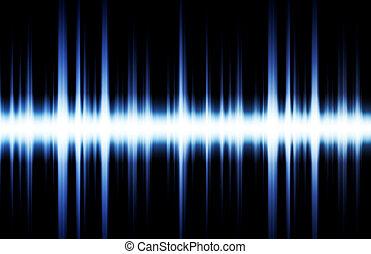 Soundwave Digital Graph as Clip Art Abstract