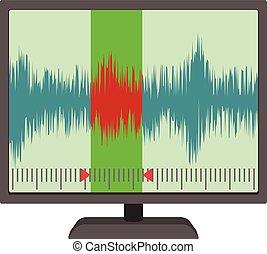 Soundwave icon, cartoon style - Soundwave icon. cartoon...