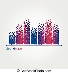 Soundwave vector illustration concept