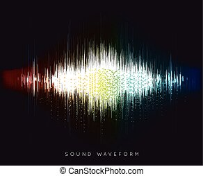 Soundwave waveform vector