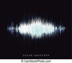 Soundwave waveform vector
