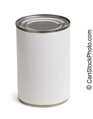 Soup Can - Generic Tin Can with Copy Space Isolated on a ...