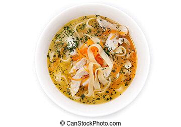 Soup: chicken noodle