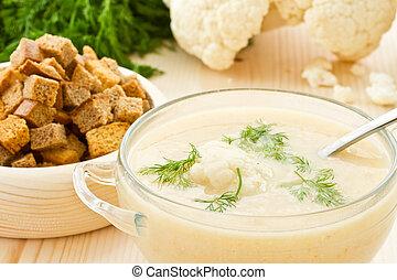 Soup Cream of cauliflower