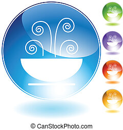 soup crystal icon isolated on a white background.