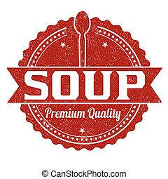 Soup grunge rubber stamp