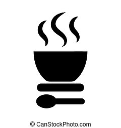 Soup icon Vector illustration.