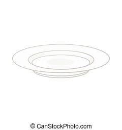 Soup plate icon, cartoon style - Soup plate icon in cartoon...