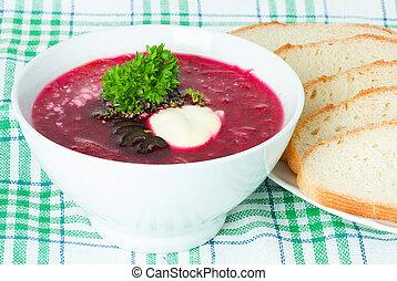 soup, red borsch