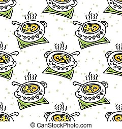 soup seamless pattern