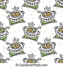 soup seamless pattern