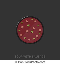 Soup vector illustration