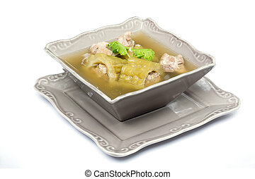soup with bitter melon with  pork