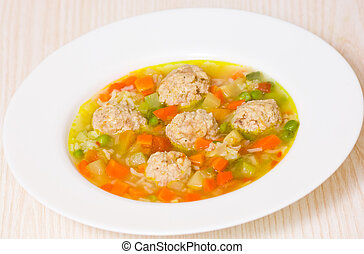 Soup with meatballs