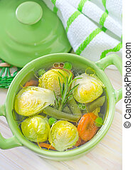 soup with vegetable