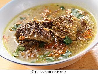 soupe, asiatique, boeuf