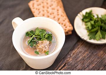 soupe, boulette viande