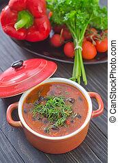 soupe, haricot