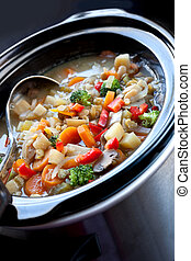soupe légume, slow-cooked
