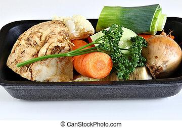 soupe, légumes, racine