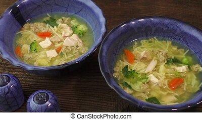 soupe, poulet