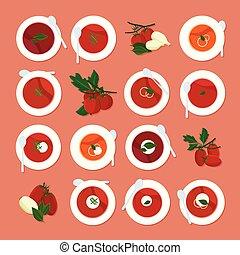 soupe tomate, ensemble