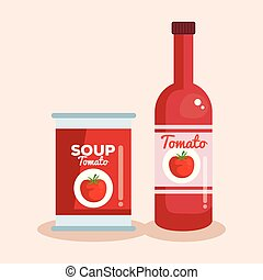 soupe tomate, ketchup